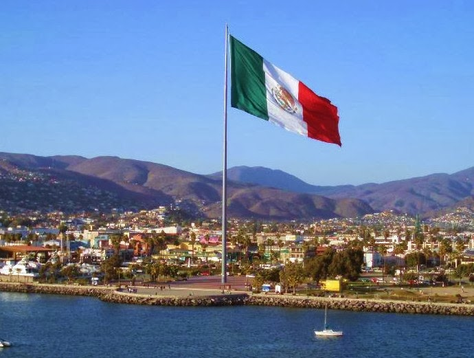 Mexican Flag on the Malecon