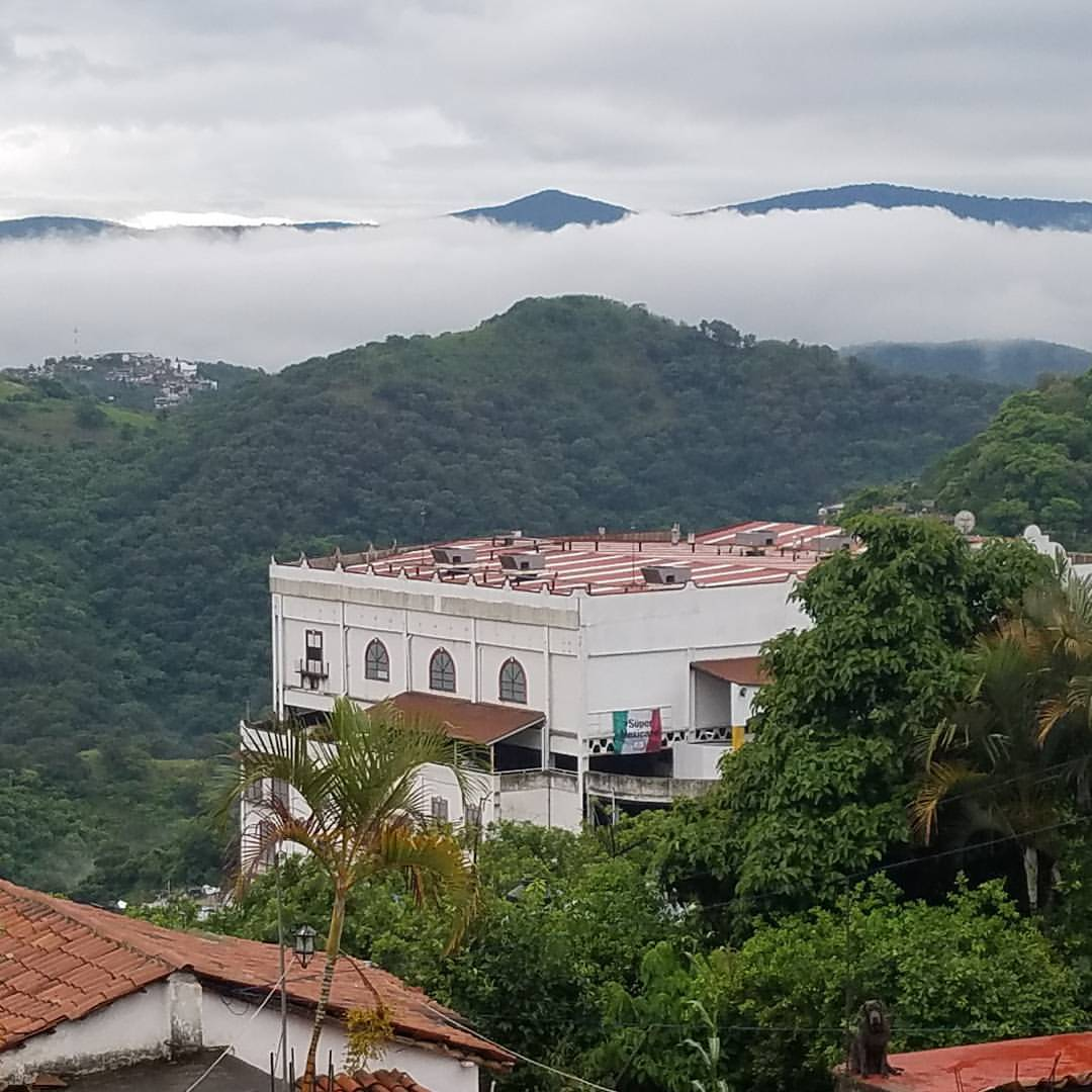 Foggy mountains in Taxco
